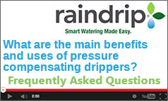What are the main benefits of pressure compensating drippers